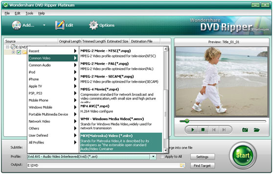 Convert DVD to Video