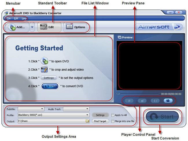 Load DVD Movie into BlackBerry Converter
