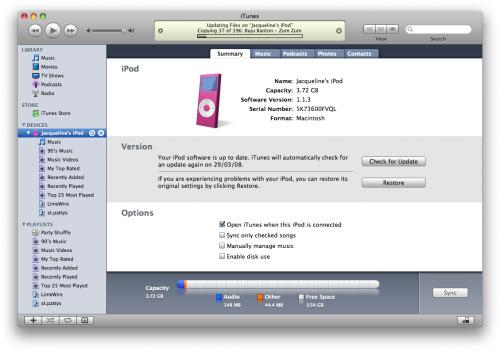 reformat ipod on windows