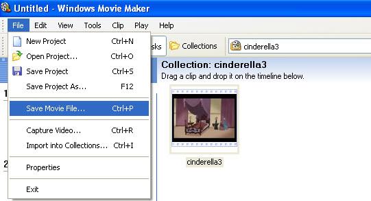 save windows movie maker file as wmv video