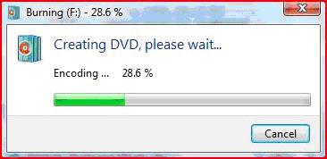 Start Burning DVD